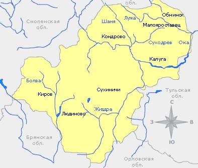 река угра в калужской области рыбалка карта