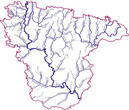 Карта рек Воронежской области